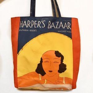 ESTÉE LAUDER Harpers Bazaar Medium Beach Tote Bag